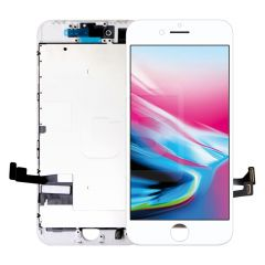 iPhone 8/SE 2020, Vivid Display (With Metal Plate)- White