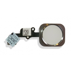 Iphone 6 & 6 Plus Home Button w/ Flex Cable Replacement Part (white)